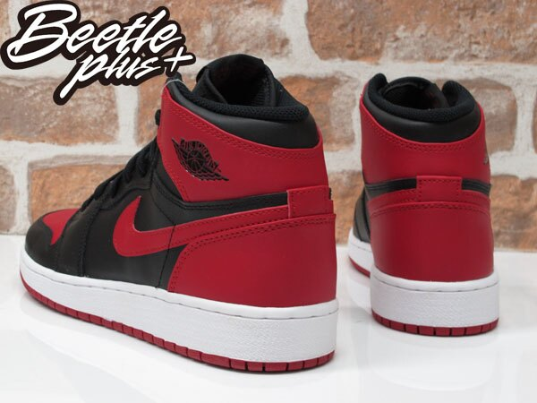 BEETLE PLUS NIKE AIR JORDAN 1 RETRO HIGH OG BG GS 黑紅 紅牛 大魔王 櫻木花道 女鞋 575441-023 2