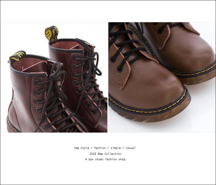 格子舖*【AA601-1G】專櫃雜誌款日系8孔真皮超耐磨牛津透明底馬汀靴 馬丁鞋 情侶鞋 5色 2