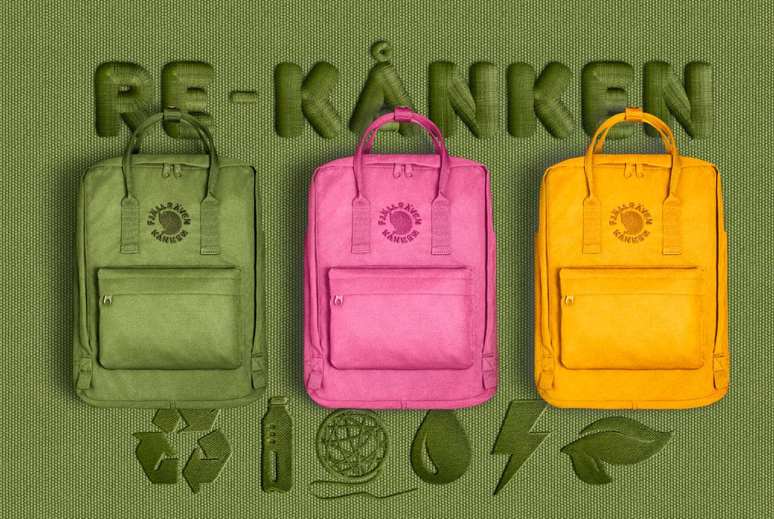 瑞典FJALLRAVEN KANKEN RE-KANKEN系列 環保 小狐狸包 後背包 書包 紅色 2