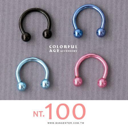 耳針耳環 小馬兒快快跑 鋼製馬蹄造型耳飾 俏皮單品 柒彩年代【ND332】單支價格 - 限時優惠好康折扣