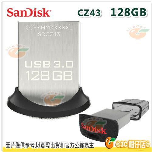 免運 Sandisk CZ43 128G 128GB Ultra USB 3.0 高速 隨身碟 130 MB/s 快閃碟 儲存碟 公司貨
