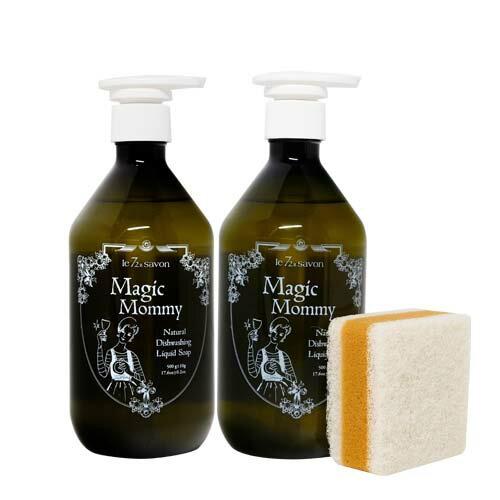 《雪文洋行》媽媽不傷手~家事清潔系列~神奇媽咪白肥皂洗潔露2件組-500gx2~再贈輕巧可愛三明治菜瓜布x2(顏色隨機出貨) 0