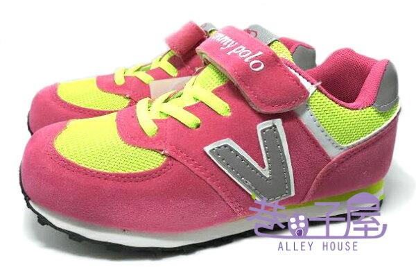 【巷子屋】 Jimmy Polo 女童經典復古運動休閒跑鞋 [68029] 粉 超值價$298