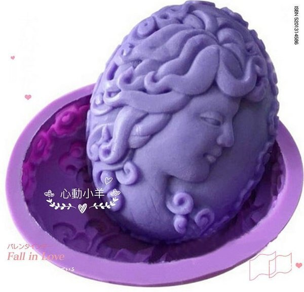 心動小羊^美女皂模女人皂模長髮美女皂模可愛矽膠模具 矽膠皂模 手工皂模具