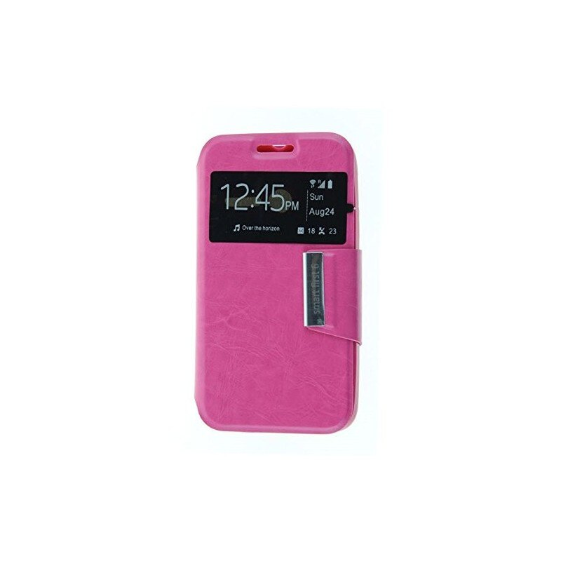 Funda CUERO Tipo LIBRO VENTANA Stand Vodafone Smart First 6 / Alcatel One Touch Pixi 3 (4) 3