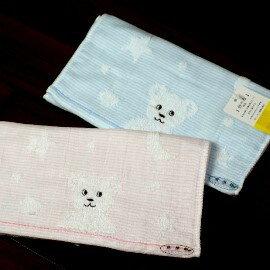 日本超流行兒童紗布毛巾╭*GT特殊雙面設計 ~經典小熊圖樣紗布童巾
