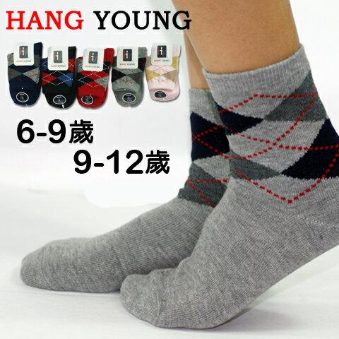 【esoxshop】HANG YOUNG 大菱格紋童襪│柔軟透氣,舒適好穿《造型襪/短襪/船形襪/學生襪》
