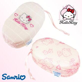 【esoxshop】╭*日本Sanrio Hello Kitty 沐浴海綿╭*舒適潔淨《沐浴綿/沐浴球/凱蒂貓》