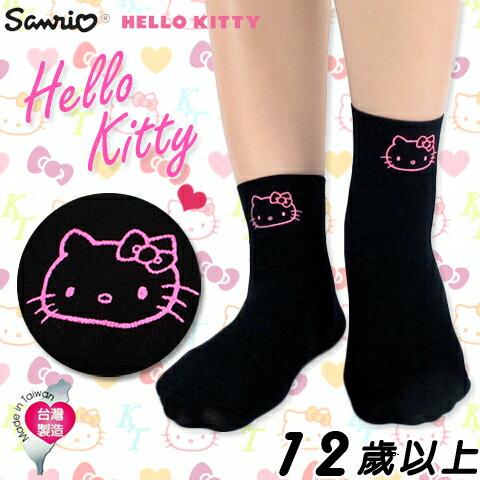 【esoxshop】美娜斯 Hello Kitty限量 超薄透氣寬口襪 精製印花款 短襪 花紋 造型