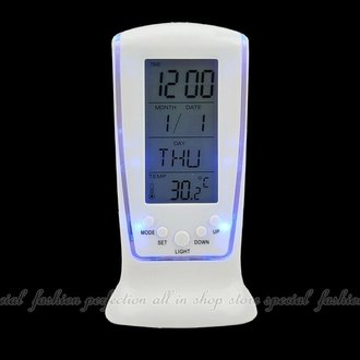 LED鬧鐘510 藍光萬年曆電子鐘 大數字時鐘 倒數計時器 溫度計【DB429】◎123便利屋◎
