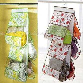 ◎123便利屋◎【DW370】雙面五層透明包包收納袋 皮包收納袋 整理袋 收納包 五口掛袋