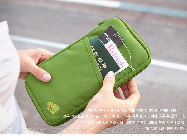 韓版多功能旅行護照收納袋 多用途手拿包 卡片存摺收納包 皮夾卡包26x15公分【DG325】◎123便利屋◎