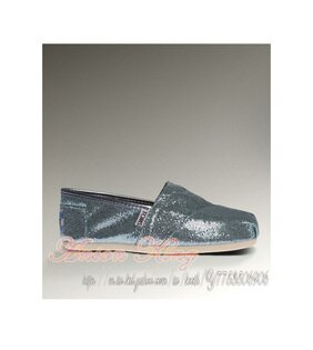 [女款] 國外代購TOMS 帆布鞋/懶人鞋/休閒鞋/至尊鞋 亮片系列  水藍