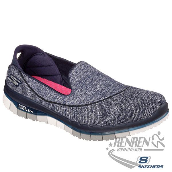 SKECHERS 女健走系列 (海軍藍*灰) GO FLEX WALK  瑜珈鞋墊 懶人鞋 2015最新款式