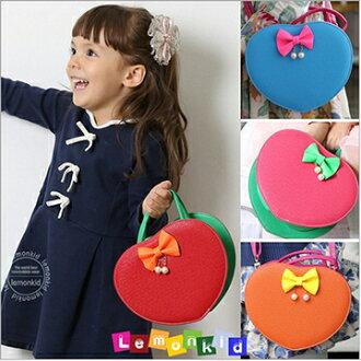 Lemonkid檸檬寶寶◆可愛俏麗時裝愛心造型蝴蝶結兒童晚宴包手提斜背肩背包