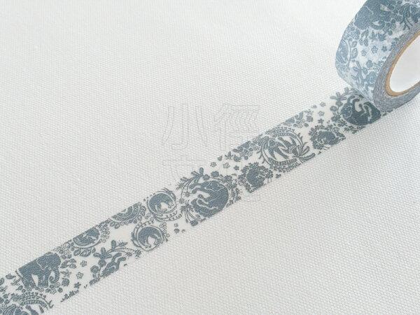 *小徑文化*日本進口紙膠帶 倉敷意匠 x mihani工房 合作款 - 花桐GY ( 13101-08 )