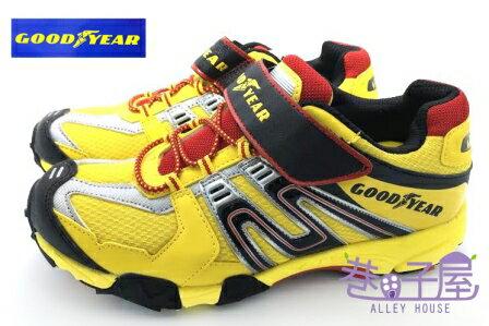 【巷子屋】GOODYEAR 固特異 光速雷神 男童全場地專業多功能競賽鞋 [48004] 黑黃 超值價$398