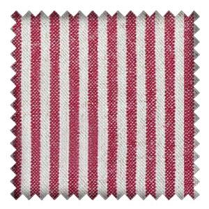 我的粉紅時代  •  經典品紅條紋棉麻布  • Think Pink Fabric Collection • Magenta Stripe