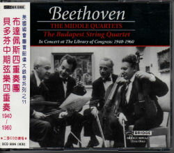 BRIDGE 布達佩斯四重奏團(The Budapest String Quartet))/貝多芬中期弦樂四重奏(Beethoven:The Middle Quartets)【3CDs】