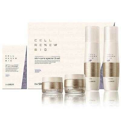 韓國the SAEM Cell Renew 賦活保濕機能全效特惠三件組 150ml+150ml+60ml+30ml Cell Renew Bio Skin Care Special 3 Set【辰湘國際】