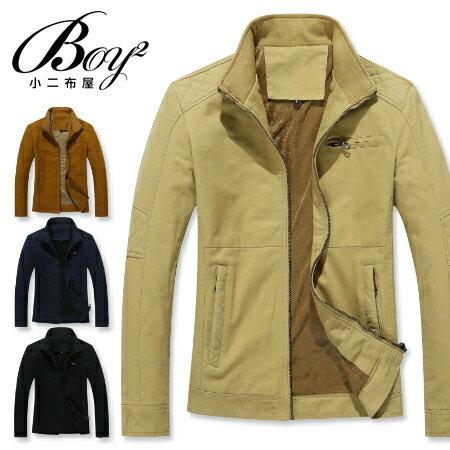 ☆BOY-2☆【NZ78003】前口袋休閒立領夾克軍裝外套 0
