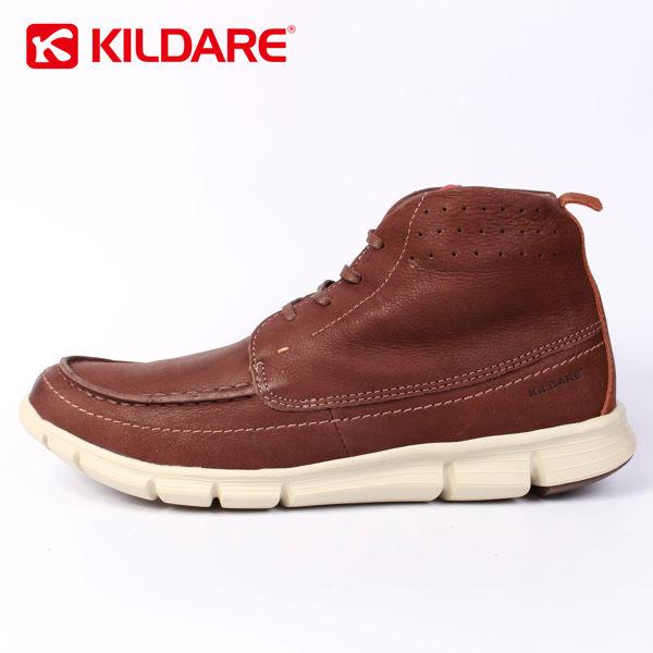 Kildare 巴西ˊ中高筒綁帶休閒男靴 深咖啡 男 1