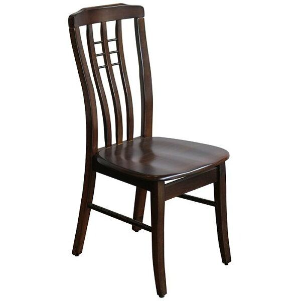 【尚品傢俱】☆特別優惠,售完為止☆ K-631-02 波因哥 全實木胡桃色低背餐椅/飯店椅/食堂椅/Chair