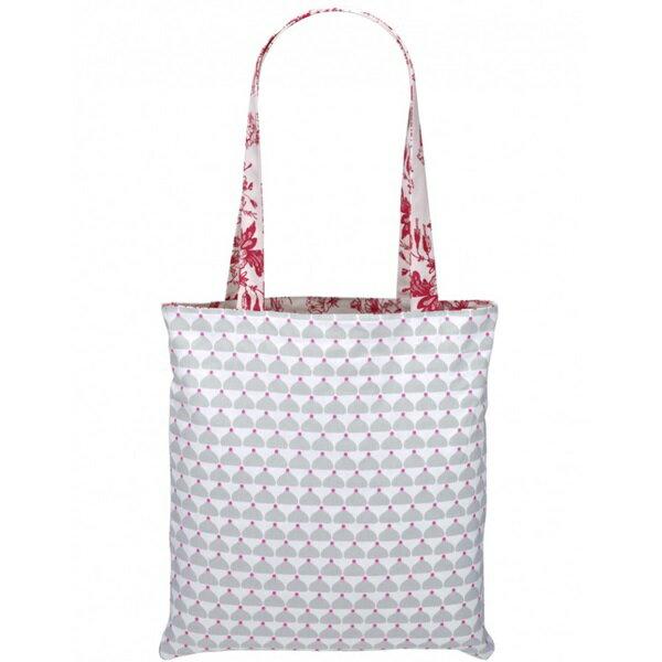 《法國 La Cocotte Paris》巴黎小散步雙面托特包/購物袋 Jouy Red Cocotte / Grey Chic Chick 1