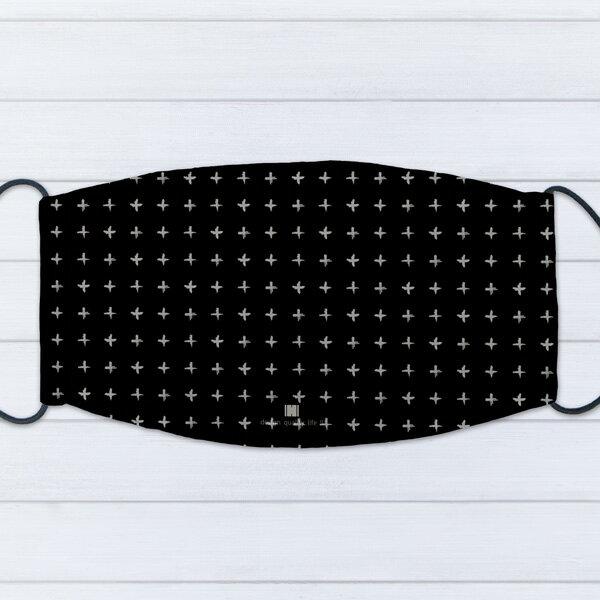 [ IHERMI ] 個性口罩 / 幾何黑十字 / 愛好蜜 MIT台灣製造好安心 環保染劑使用 極細緻印染技術