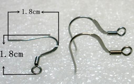 帶彈簧 316L西德白鋼耳勾批發耳鈎 耳環配件DIY - 買十送一