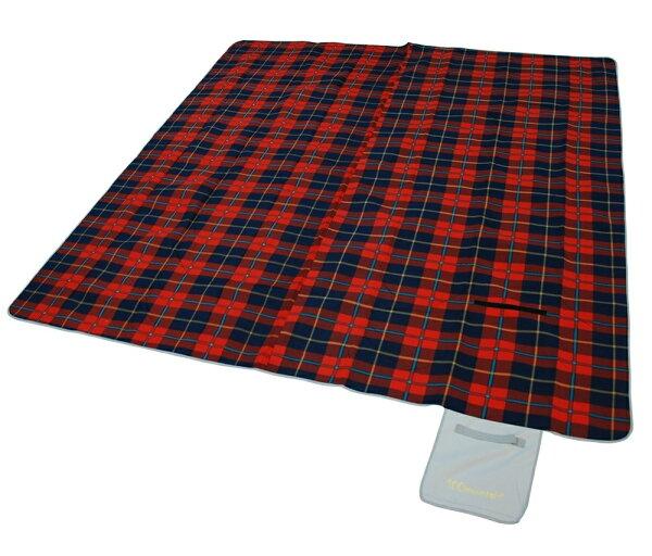 露營睡墊/地墊/防潮野餐墊270 100mountain 蘇格蘭紅 MT-PAD270R