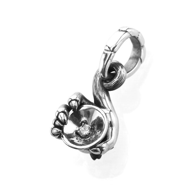 【現貨商品】【Bloody Mary】仙猿握杯鑽石墜飾 純銀款 (BMP1374-D  0838180000) 0