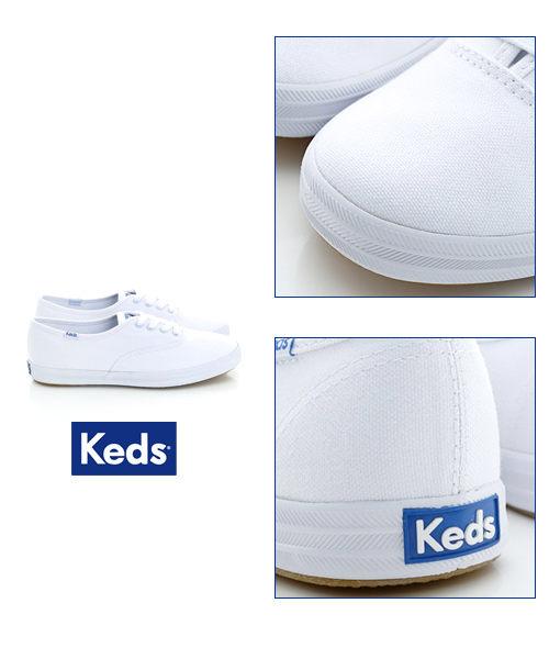Keds 經典長青帆布鞋(寬楦)-白 白鞋││綁帶│平底鞋 2