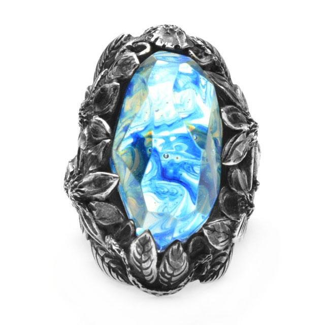 【海外訂購】【LYLY ERLANDSSON】the WINTER 極寒冰雪純銀戒指 - 冰晶藍(L-02-001) 0