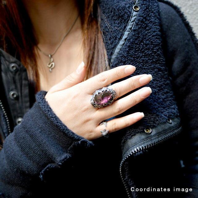 【海外訂購】【LYLY ERLANDSSON】the WINTER 極寒冰雪純銀戒指 - 蜜桃紫(L-02-010) 5