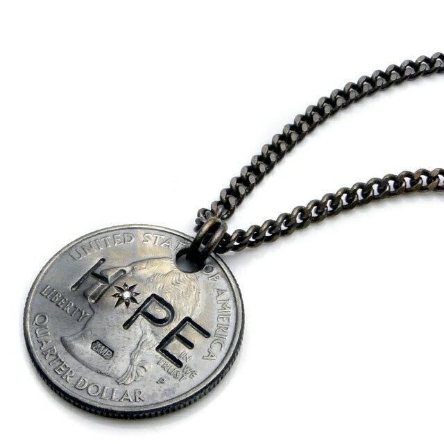 【海外訂購】【amp japan】HOPE 錢幣純銀鑽石項鍊(AMP-11AD-214  0608590000) 0