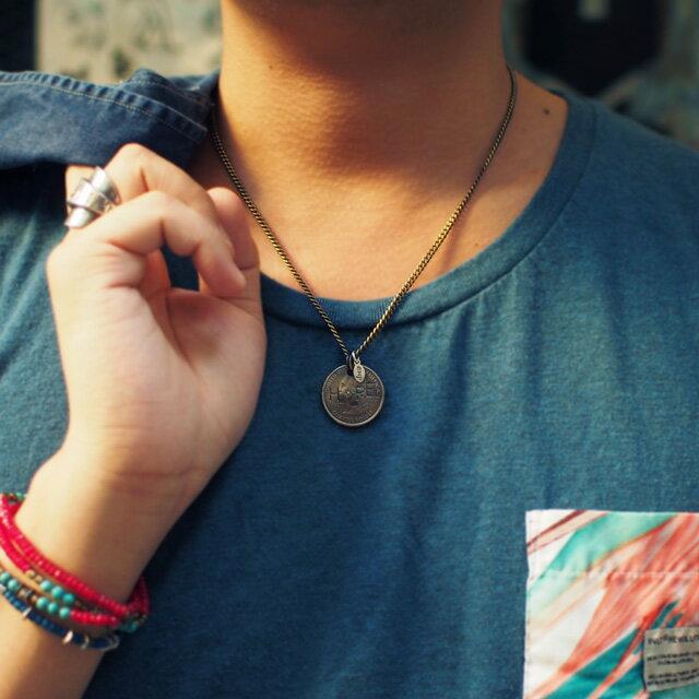【海外訂購】【amp japan】HOPE 錢幣純銀鑽石項鍊(AMP-11AD-214  0608590000) 4