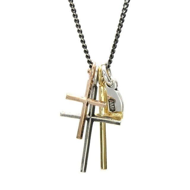 【海外訂購】【amp japan】三重十字架純銀項鍊(AMP-11AD-894 0567030000) 0
