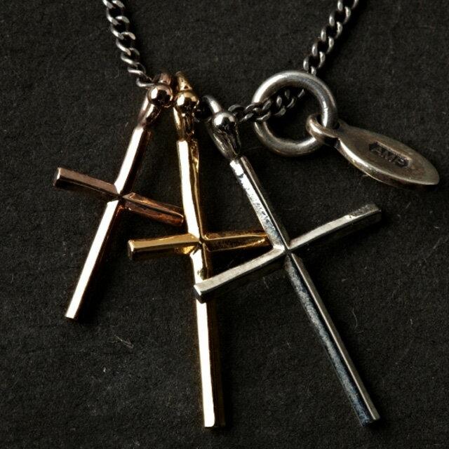 【海外訂購】【amp japan】三重十字架純銀項鍊(AMP-11AD-894 0567030000) 2
