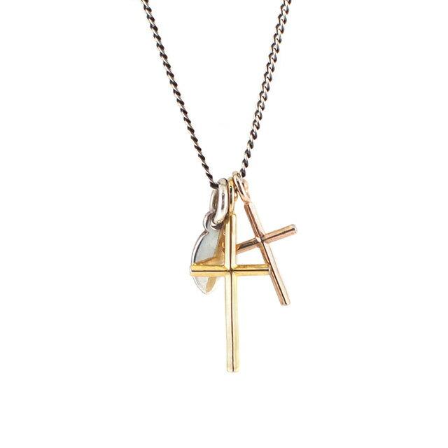 【海外訂購】【amp japan】簡約雙十字架純銀項鍊 (AMP-11AD-895 0567040000) 0