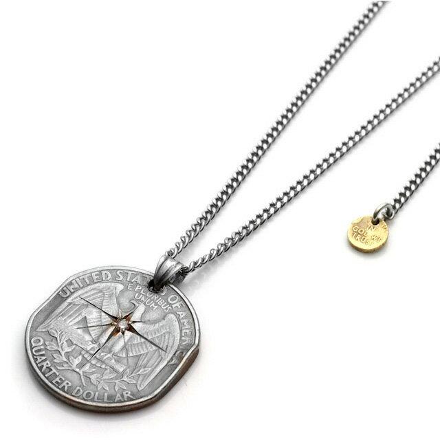 【海外訂購】【amp japan】25分錢美元硬幣不鏽鋼項鍊 (AMP-13AA-103  0641080000) 0