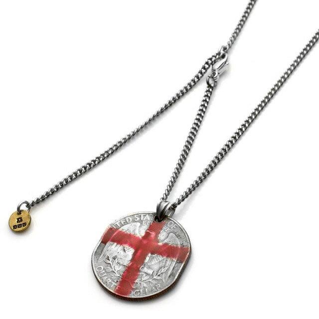 【海外訂購】【amp japan】紅色十字架硬幣項鍊(AMP-13AA-104  0641090000) 0