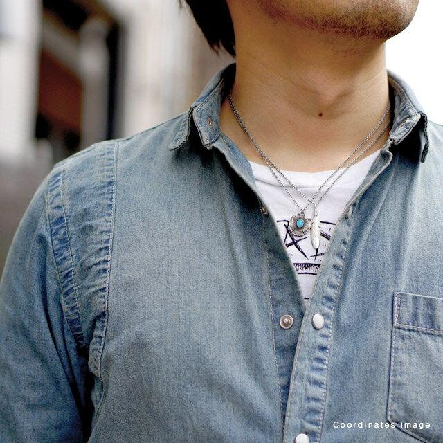 【海外訂購】【amp japan】雷鳥綠松石印地安風不鏽鋼項鍊 (AMP-13AA-108  0641130000) 4