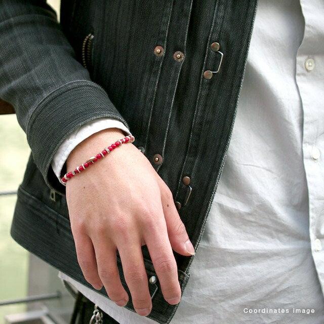 【海外訂購】【amp japan】紅珊瑚串珠手鍊(AMP-13AHK-151  0641240000) 4