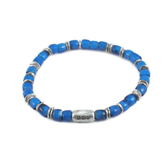 【海外訂購】【amp japan】White Heart 藍色玻璃珠手環(AMP-14AH-440BL  0782900000) 0