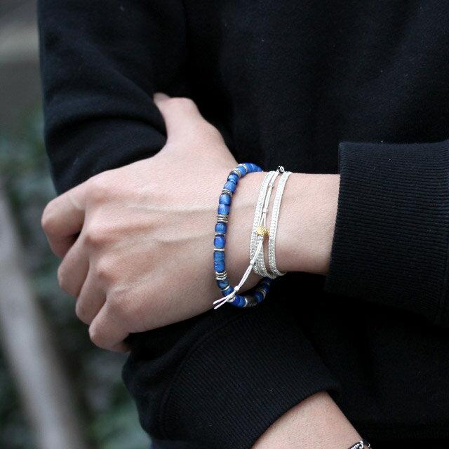 【海外訂購】【amp japan】White Heart 藍色玻璃珠手環(AMP-14AH-440BL  0782900000) 4