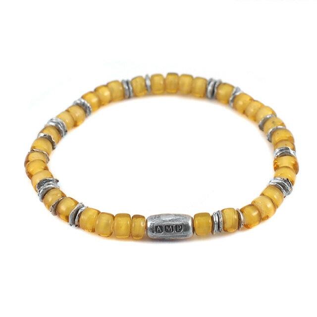 【海外訂購】【amp japan】White Heart 黃色玻璃珠手環(AMP-14AH-440BR  0782910000) 0