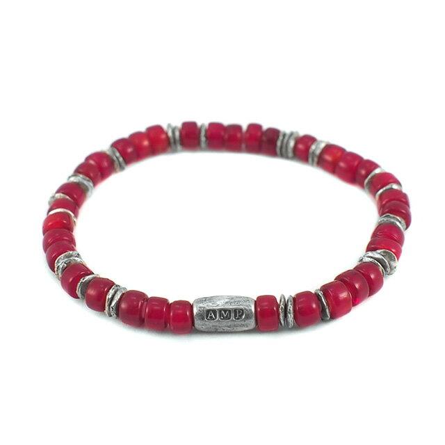 【海外訂購】【amp japan】White Heart 紅色玻璃珠手環(AMP-14AH-440RD  0782920000) 0