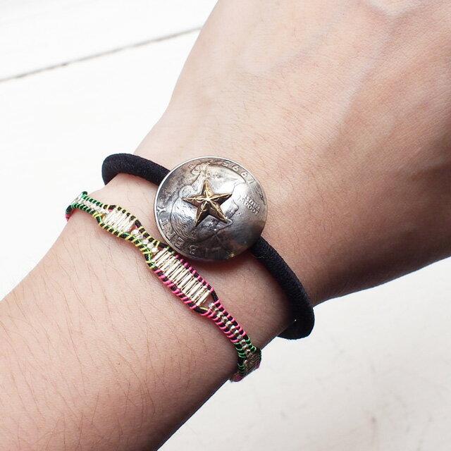 【海外訂購】【amp japan】銀珠塊混色棉繩編織單圈手環(AMP-14AH-450  0783000000) 3