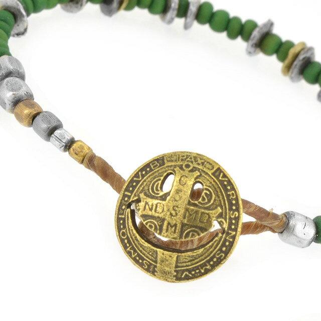 【amp japan】微笑銅幣串珠手鍊-綠 (AMP-14AHK-401-green) 1